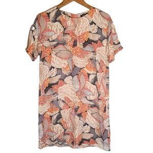 Boohoo Silky Shift Dress Bohemian Print - 4